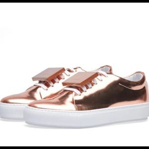 New Acne Studios metallic sneakers shoes
